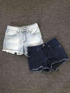 CLEARANCE SALE Jean Shorts 2 Colours