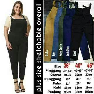 PLUS SIZE STRETCHABLE OVERALL - instock limited