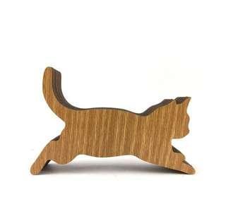 Cat shape music box 木雕貓形音樂盒 很美的貓咪