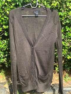 MANGO Basics Long Cardigan in Grey
