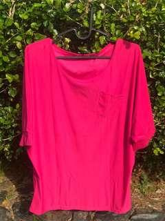 Full Colour Hot Pink Blouse