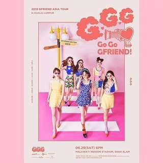 2019 GFRIEND ASIA TOUR ( GO GO GFRIEND!) IN KUALA LUMPUR  TICKETING SERVICE : RM 40 ( exclude charge fee)