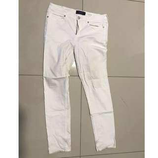 Violeta By Mango White Jeans