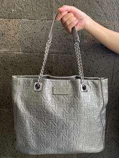 KATE SPADE leather bag, silver