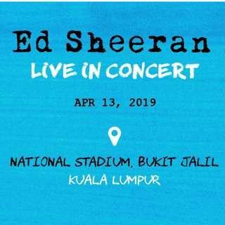 CAT5x2 Ed Sheeran Concert Malaysia Ticket