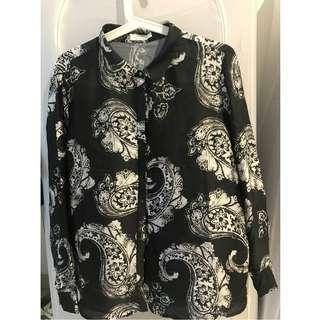 Mango Suit Collection Black Shirt