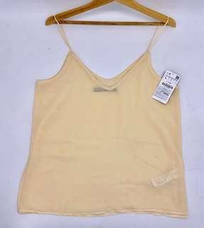 New with tag - tanktop zara chiffon size M dan L