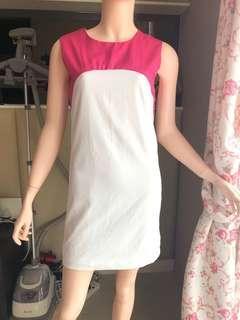 White mix pink dress ❤️