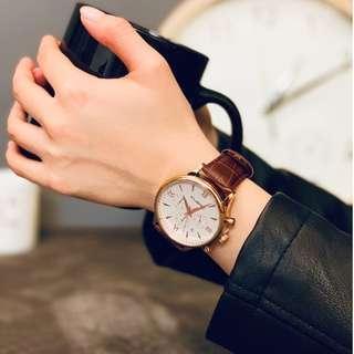 質感大錶面個性鱷魚皮革錶