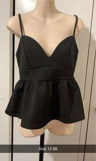 Size 12 black top