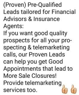 PROVEN Leads for Financial Advisers & Insurance Agents!