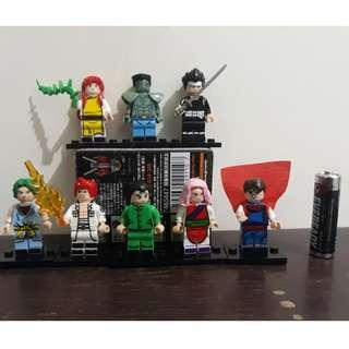 Ghostfighter YuYu Hakuso Lego Figures set of 8