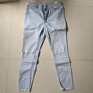Uniqlo jeans ripped