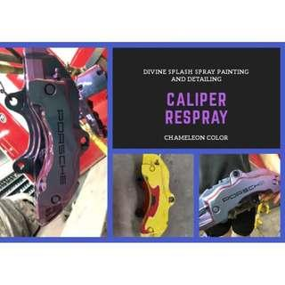 caliper spray painting