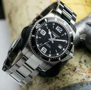Lgs hydroconquest automatic black dial