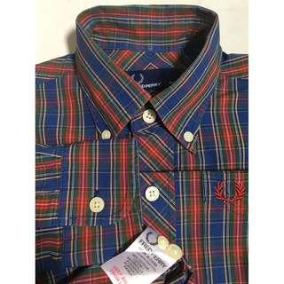 Fred Perry Gingham Tartan Style Long Sleeve Shirt