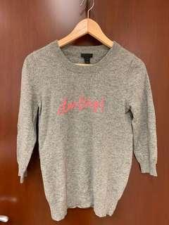 "J.Crew 100% cashmere ""darling"" sweater"