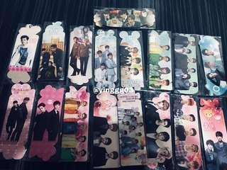 [WTS] EXO Bookmarks 17x5pcs
