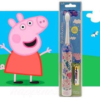 Peppa Pig Brush Buddies Sonic Powered Toothbrush  兒童聲波電動牙刷 (連電池)