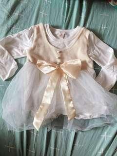 連身紗裙 著左一次 size: 110