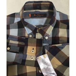 Ben Sherman Gingham Gradient Long Sleeve Button Down Shirt