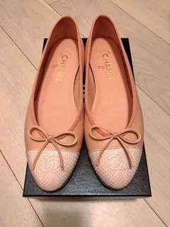 Chanel ballerina平底鞋 38.5 搬屋大清貨 實物更靚