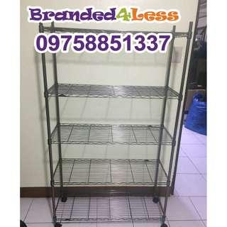 Stainless Steel Wire Metal Shelves Cabinet Racks For Display