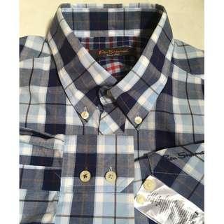 Ben Sherman Checkered Long Sleeve Gingham Casual Shirt