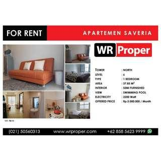 FOR RENT : SAVERIA APARTMENT - NORTH TOWER - 1 BEDROOM