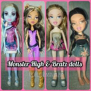 BRATZ & MONSTER HIGH dolls