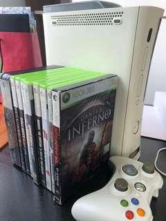 Xbox360 (60Gb) + Kinect + 18 games