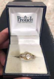 Prouds two tone gold ring