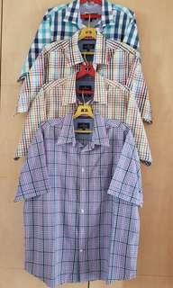 🚚 4 x Marks & Spencer Mens Short Sleeve Shirts L