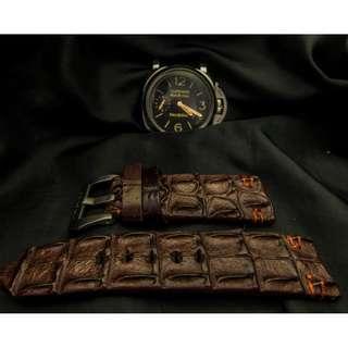 🚚 Panerai watch band / strap Crocodile leather, Panerai watch band / strap 26mm, Panerai watch band / strap 24mm, Panerai watch band / strap custom 2