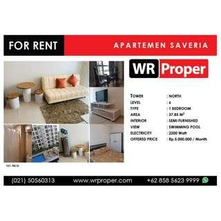 FOR RENT - SAVERIA APARTMENT - NORTH TOWER - 1 BEDROOM