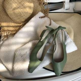 蝴蝶結平底涼鞋