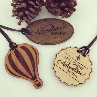 Personalised Wooden Luggage Tags