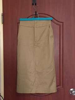 🚚 Jeanasis 日系棉質窄裙 F