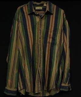 🚚 古著 條紋襯衫