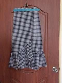 🚚 格紋魚尾裙