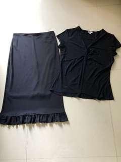 🚚 Black Skirt & Top