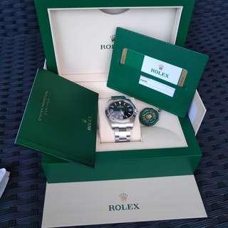 ROLEX EXPLORER 1 214270 BNIB February 2019 full set with stickers