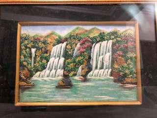 🚚 Burmese Precious Gemstones Art Painting