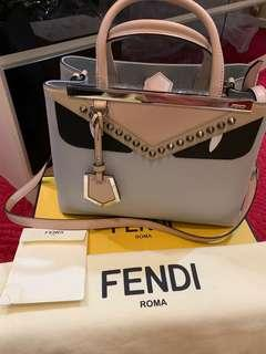 FENDI MONSTER EYES STUDDED SHOULDER BAG
