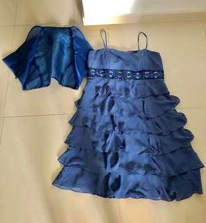 Beautiful Blue Dress with vest