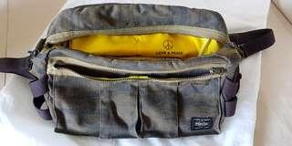 Porter Japan Love & Peace Limited Collection 2 way Crossbody Sling bag and Waistbag