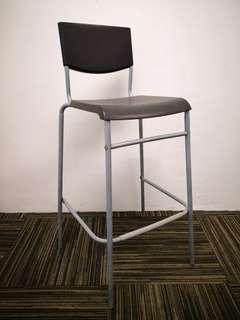 🚚 IKEA STIG 70cm high bar stool black (1999)