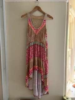 Boho hi-low dress