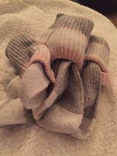 Pink/Cream Wool Socks (4 pairs)