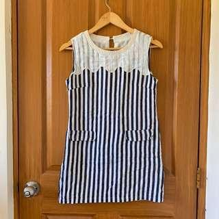 Soft Denim Striped Dress